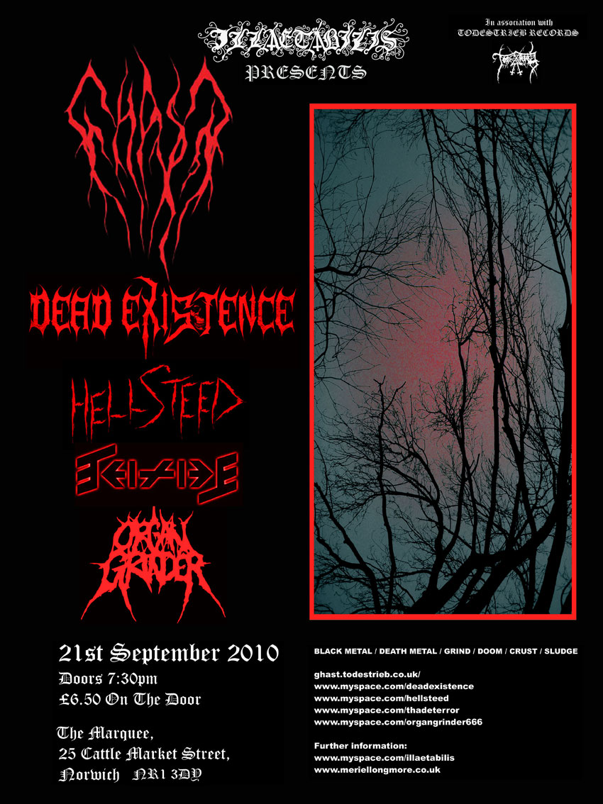 Ghast gig: Sept 21 � The Marquee � Norwich | Todestrieb Records