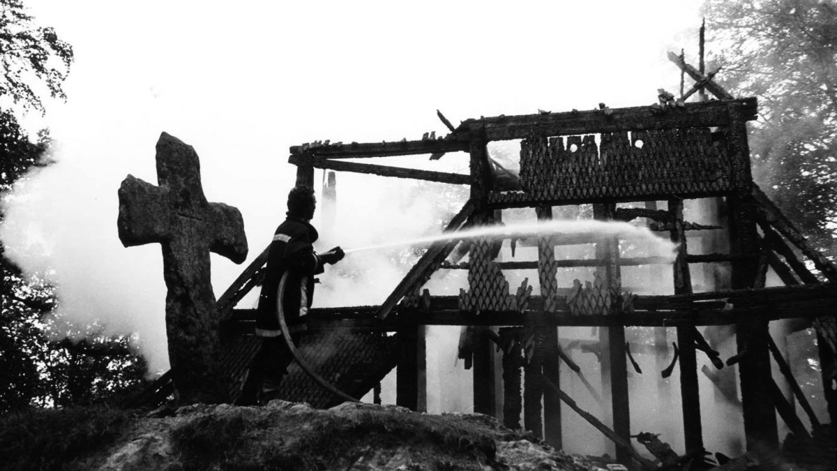 24 Years Ago: Fantoft Stavkyrkje Burns (Norwegian Church Arson 1992) Photos