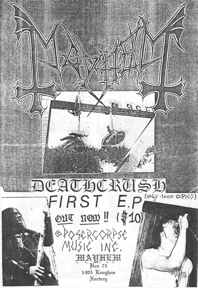 Mayhem Deathcrush Flyer